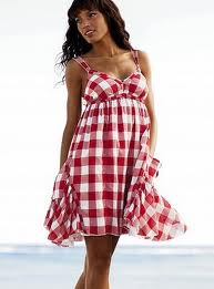 Red Gingham bombshell kinds of things