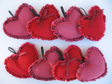 Valentines Day puffy hearts