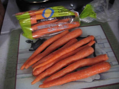 Organic Carrots cut about 1/2 - 3/4 inch thick