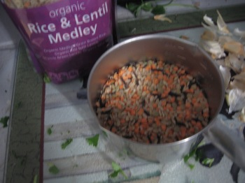 organic rice and lentil medley about one cup
