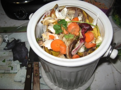 Be sure to put scraps in compost