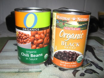 can each of Chili Beans w/ Sauce and Black Beans