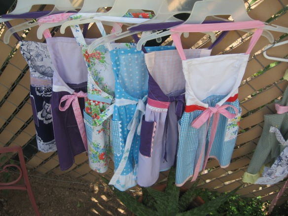 Little Girl Aprons made by Ms. SpoolTeacher