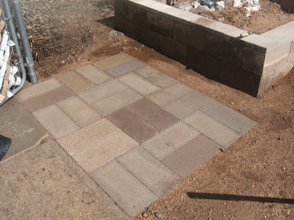 front gate landing pavers