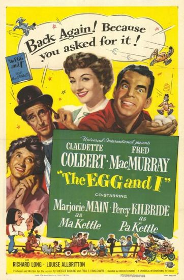 The Egg and I, Claudette Colbert and Fred MacMurray