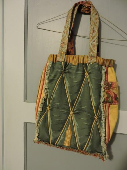 Boho drapery sample patch purse